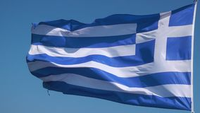 Waving greek flag stock video footage