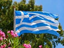 Waving Greek Flag Stock Image