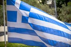 Waving Greek Flag Stock Images