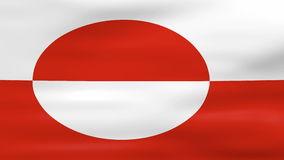 Waving Greenland Flag, ready for seamless loop Stock Images