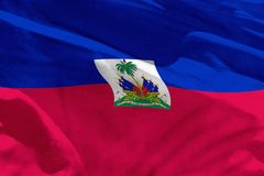 Waving Haiti flag for using as texture or background, the flag is fluttering on the wind. Fluttering Haiti flag for using as texture or background, the flag is royalty free illustration