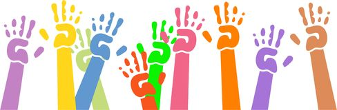 Waving hands Royalty Free Stock Photo