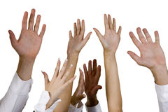 Waving hands Royalty Free Stock Photos