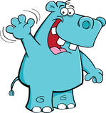 Waving hippo Stock Photo