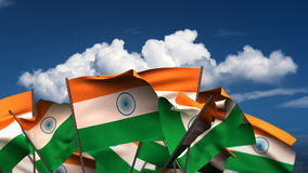 Waving Indian Flags stock video