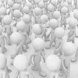 Waving inside a crowd Royalty Free Stock Image