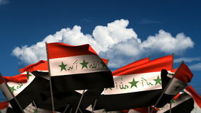 Waving Iraqi Flags stock video footage