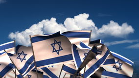 Waving Israeli Flags stock video