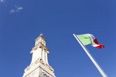 Waving italian flag Stock Photos