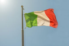 Waving Italian flag Royalty Free Stock Photo