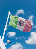 Waving Italian flag Stock Images