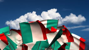 Waving Italian Flags stock video