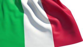 Waving Italy flag stock video