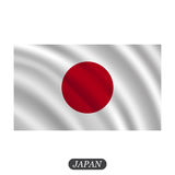 Waving Japan flag on a white background. Vector illustration Stock Image