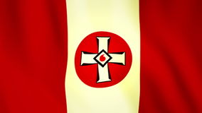 Waving ku-klux-klan flag stock footage