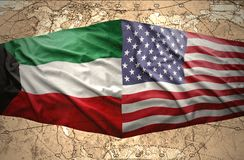 Kuwait and United States of America Stock Images