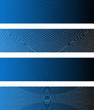 Waving Lines Banners. Four Waving Lines Banners (all stroke widths are editable Royalty Free Stock Photo