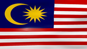 Waving Malaysia Flag, ready for seamless loop stock video
