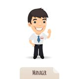 Waving Manager Royalty Free Stock Images