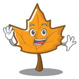 Waving maple character cartoon style. Vector illustration Royalty Free Stock Photography