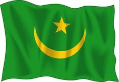 Waving Mauritania Flag  Stock Images
