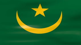 Waving Mauritania Flag, ready for seamless loop stock video