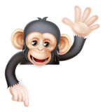 Waving Monkey Sign Royalty Free Stock Photo