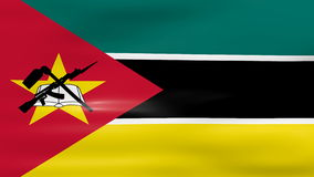 Waving Mozambique Flag, ready for seamless loop Royalty Free Stock Images