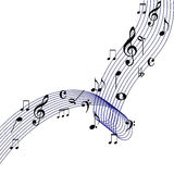 Waving music note design Royalty Free Stock Photography