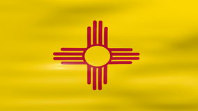 Waving New Mexico State Flag, ready for seamless loop Royalty Free Stock Photo
