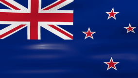 Waving New Zealand Flag, ready for seamless loop Stock Images