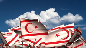 Waving Northern Cyprus Flags vector illustration