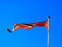 Waving Norwegian flag backdrop Stock Photos