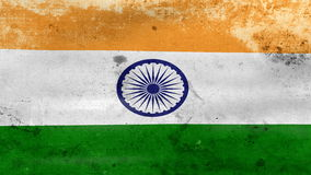 Waving old India Flag, ready for seamless loop stock footage