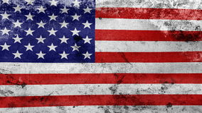 Waving old USA Flag, ready for seamless loop Royalty Free Stock Images
