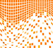 Waving orange mosaic background Stock Photo