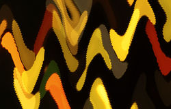Waving painted shapes. Abstract yellow and orange shapes with shivering edges looking like painted Royalty Free Stock Photography