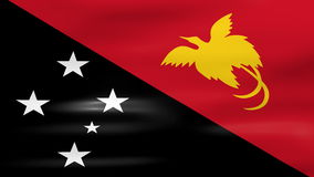 Waving Papua New Guinea Flag, ready for seamless loop stock video