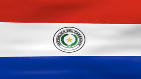 Waving Paraguay Flag, ready for seamless loop royalty free illustration
