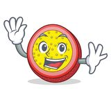 Waving passion fruit character cartoon. Vector illustration Stock Photo