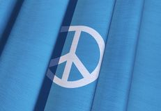 Waving Peace Flag Royalty Free Stock Photos