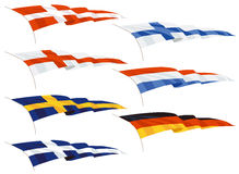 Waving pennants or flags Royalty Free Stock Photography