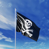 Waving  piracy flag Royalty Free Stock Photography