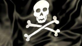 Waving Pirate Flag stock illustration