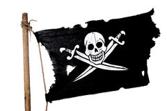 Waving Pirate Flag Royalty Free Stock Images