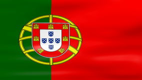 Waving Portugal Flag, ready for seamless loop stock video