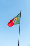Waving Portuguese flag Royalty Free Stock Photography