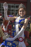 Waving Princess, 115th Golden Dragon Parade, Chinese New Year, 2014, Year of the Horse, Los Angeles, California, USA Stock Image