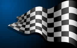 Waving Race Flag Royalty Free Stock Photo