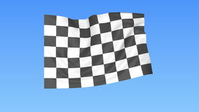 Waving racing chequered flag, finish concept, loop, blue background. 4K, ProRes stock video